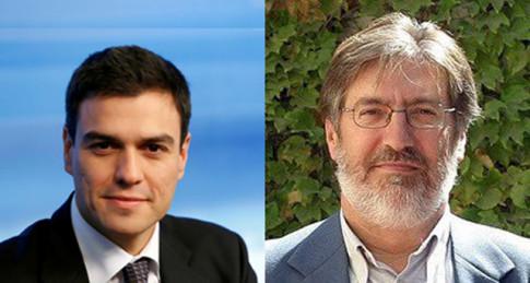 Pedro Sánchez Castejón (izquierda) y José Antonio Fernández Tapias, nuevo secretario general y candidato más votado en Rivas, respectivamente
