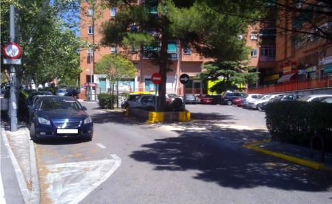 Aspecto de la plaza una vez realizado el nuevo acceso (Foto cortesía de Mancomunidad de Covibar)