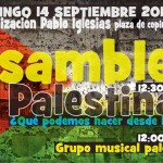 Cartel Asamblea Palestina Fiestas Pablo Iglesias 2014