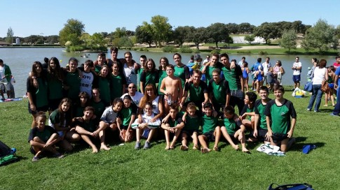 Los miembros del CD Covibar participantes en la prueba, fotografiados al finalizar la misma (Foto cortesía CD Covibar)