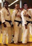 Los tres miembros del Judo Rivas que participarán en el Campeonato (Foto cortesía del club)