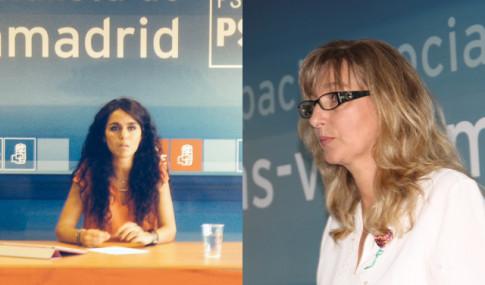 Mónica Carazo (izquierda) y Carmen Pérez, durante sus respectivas presentaciones
