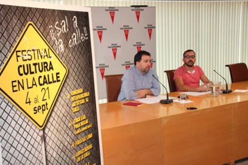 Pedro del Cjura y Curro García Corrales, durante la presentación, hoy, del Festival (Foto Rivas Actual)