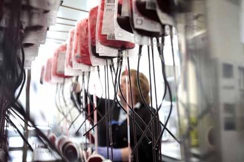 Interior del Centro de Transfusión de Sangre de la Comunidad de Madrid (Foto: Olmo Calvo / Diagonal)