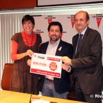 Clara Ruiz, Pedro del Cura y Alfonso Cabezas, durante la presentación de la campaña (Foto Rivas Actual)