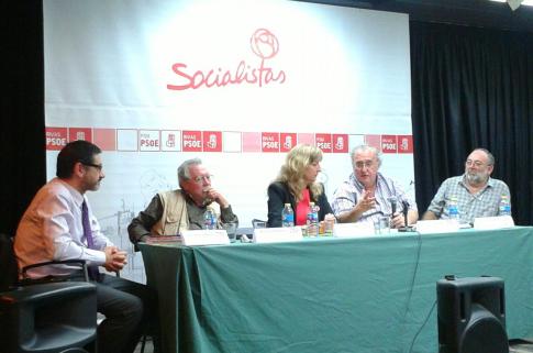 Un momento del acto (Foto cortesía de PSOE Rivas)