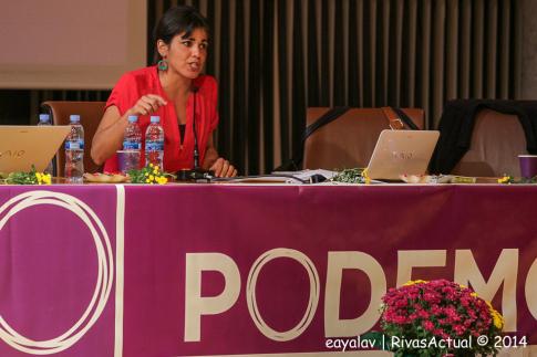 Teresa Rodríguez, durante su intervención (Foto: Enrique Ayala)