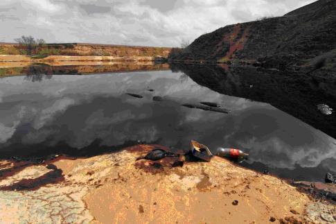 La 'laguna del aceite'