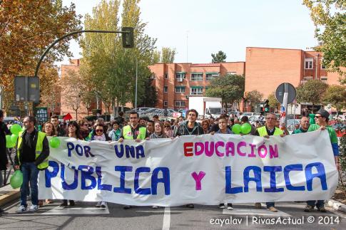 Un aspecto de la manifestación (Foto Enrique Ayala)