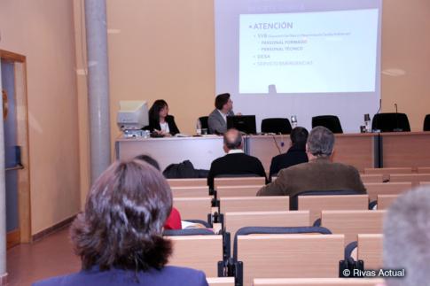 Felipe Rivero durante su exposición (Foto Rivas Actual)