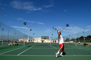 Una de las pistas de tenis municipales (Foto rivasciudad.es)