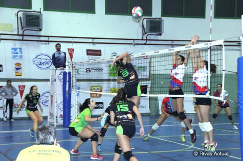 Un momento del partido del Duero Proyel Rivas contra Fisiomas Zalaeta (Foto Rivas Actual)