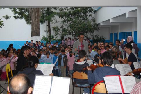 Un momento de una de las clases (Foto cortesía Orquesta Athanor)