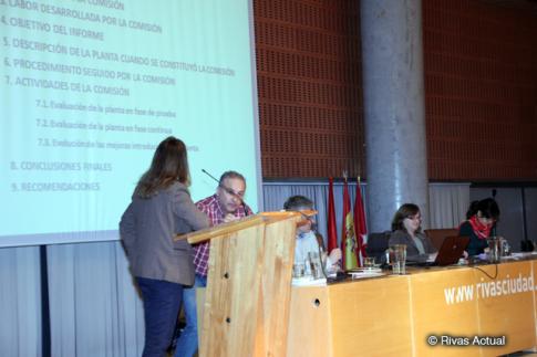 Los miembros de la comisión, durante la rendición del resumen de su informe (Foto Rivas Actual)