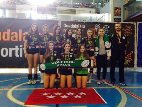 El Cadete 'A' de la AD Voleibol Rivas (Foto cortesía del club)