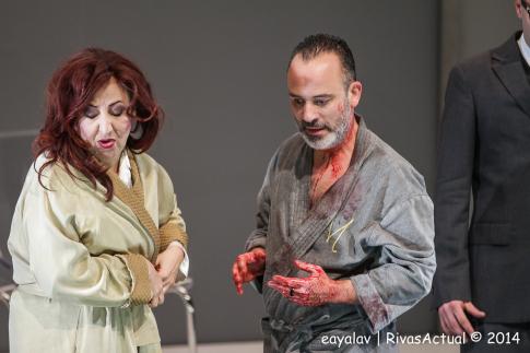 Carmen Machi y Javier Gutiérrez, durante la representación (Foto: Enrique Ayala)