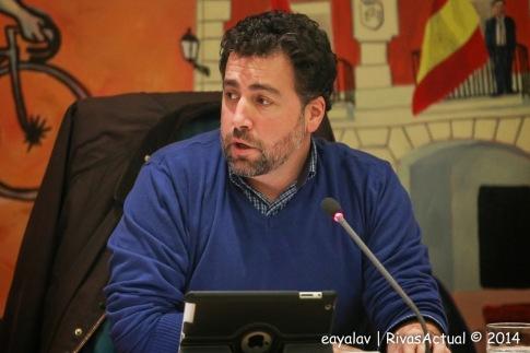 El Alcalde, Pedro del Cura, durante el pleno municipal celebrado el pasado mes de diciembre (Foto: Enrique Ayala)
