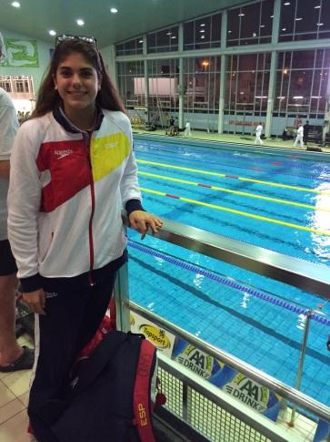 Marta Cano, en el Swimming Pool Wezenberg de Amberes (Foto Marta Cano)