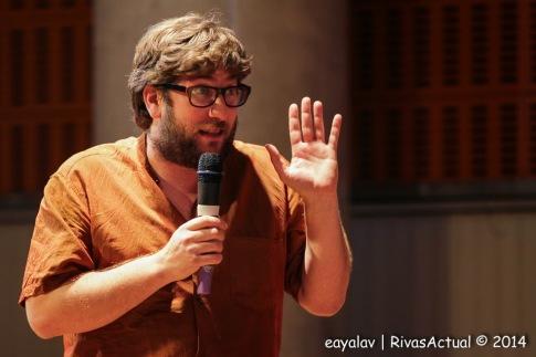 Miguel Urbán, en un acto de Podemos Rivas el pasado mes de octubre (Foto: Enrique Ayala)