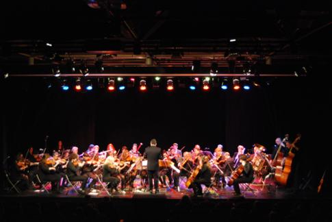 La orquesta, durante uno de sus conciertos (Foto cortesía de Orquesta Athanor)