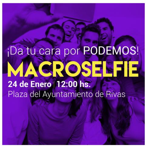 Cartel anunciador el 'macroselfie'
