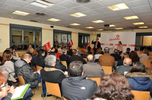 Un aspecto de la asamblea (Foto cortesía PSOE Rivas)