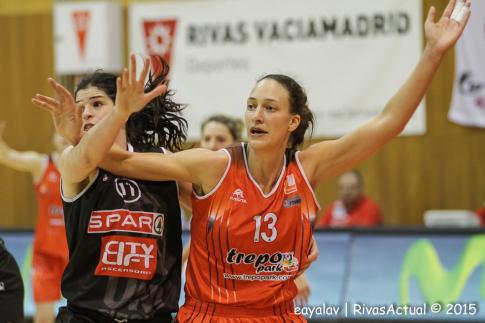 Inés Ajanovic realizó un excelente último partido en las filas de Rivas Ecópolis (Foto: Enrique Ayala)