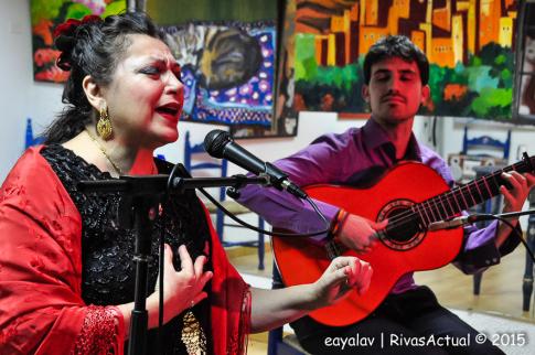 Los dos artistas, durante su actuación (Foto: Enrique Ayala)