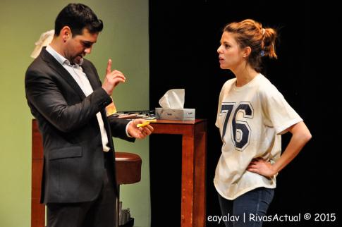Fran Perea y Manuela Velasco, durante la representación (Foto: Enrique Ayala)