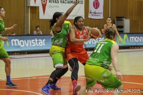 Lady Comfort fue el puntal de Rivas en el último tramo del partido (Foto Kike Ayala)
