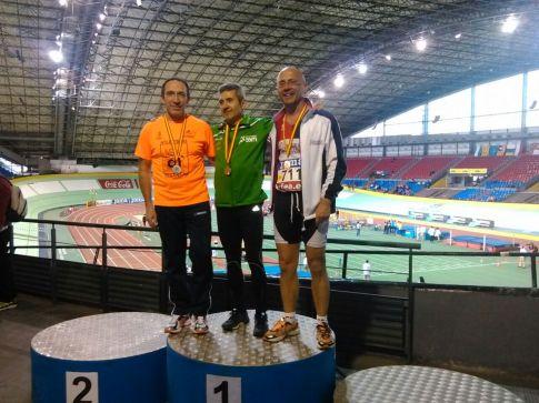 Javier Tabarés (derecha), en el podium (Foto cortesía de Javier Tabarés)