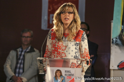 Carmen Pérez, candidata a la alcaldía de Rivas por el PSOE. Foto: Kike Ayala.