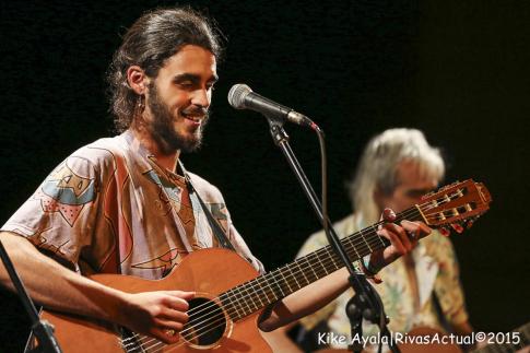 Pedro Pastor durante la actuación