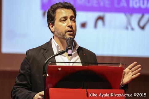 Pedro del Cura durante su intervención en el acto (Foto: Kike Ayala)
