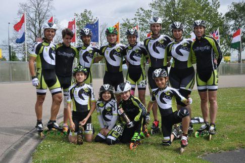 El equipo Rivas In-Gravity en Mechelen. (Foto: cortesía del club)