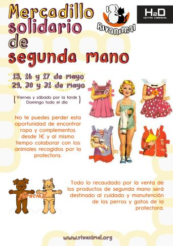 Rivanimal celebra el mercadillo solidario de segunda mano con objetos desde 1€. (Foto: cortesía de la protectora).