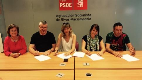 PSOE Rivas y CCOO firman 11 acuerdos en defensa de los Servicios Públicos. (Foto: cortesía PSOE Rivas).