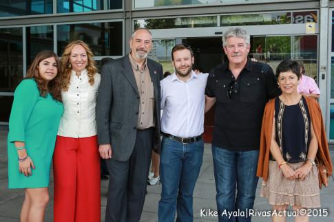 Los seis concejales de Rivas Puede, en el acto de proclamación de alcaldes, celebrado el pasado día 13. (Foto: Kike Ayala).