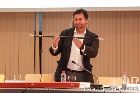 Pedro del Cura, reelegido alcalde de Rivas por IU, pese a su imputación. (Foto: Kike Ayala).