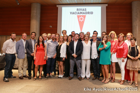 Los concejales de Rivas, en la jornada de elección de alcalde, el pasado 13 de junio. (Foto: Kike Ayala).