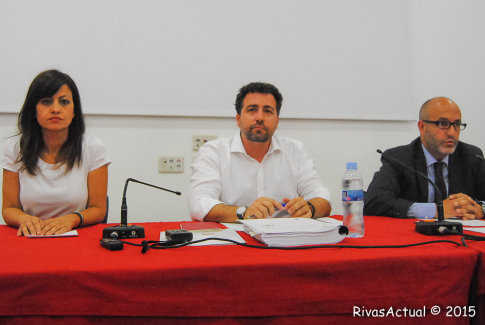 Sira Rego, Pedro del Cura y Luis Miguel Sanguino durante en alcto. (Foto: Irene Núñez).