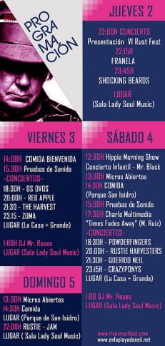 Cartel y programa del festival.