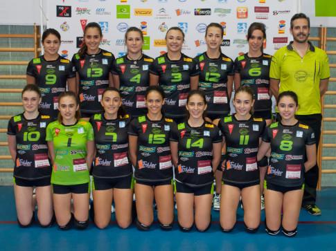 """El equipo Cadete """"A"""" de la A. D. Voleibol Rivas. (Foto: cortesía del club)."""