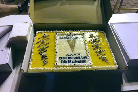 """La tarta de """"cumpleaños"""" (Foto: Rodrigo Parra)"""