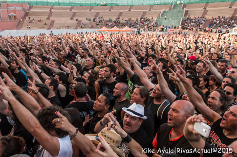 Los seguidores de Judas Priest en el auditorio Miguel Ríos. (Foto: Kike Ayala).