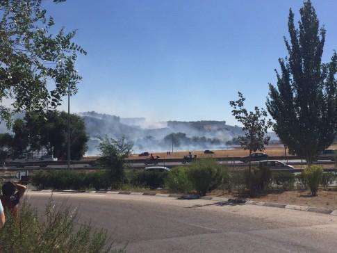 El incendio visto desde Rivas. (Foto: Carla de Nicolás).