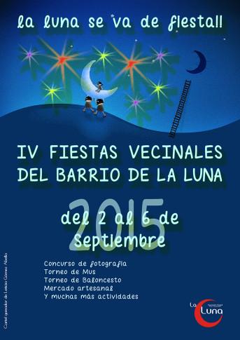 Cartel de las IV Fiestas vecinales en La Luna