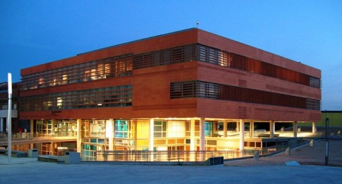 Town Council's SIAC (Office of Citizen Services) building in Rivas-Vaciamadrid (Community of Madrid, Spain).