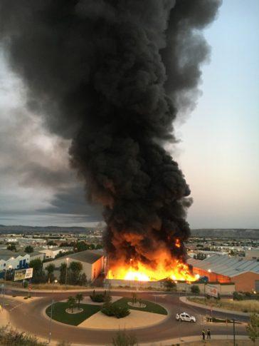 Incendio planta reciclaje Arganda
