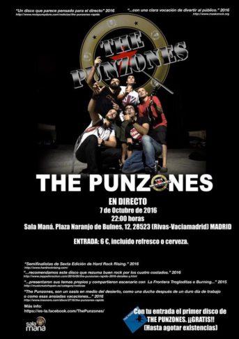 Cartel del concierto de The Punzones